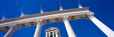 Caesars Palace Photograph - Low Angle View Of A Hotel, Caesars by Panoramic Images