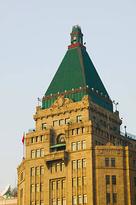 Peace Tower Wall Art - Photograph - Low Angle View Of A Hotel, Peace Hotel by Panoramic Images