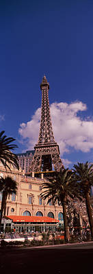 The Eiffel Tower Photograph - Low Angle View Of A Hotel, Replica by Panoramic Images