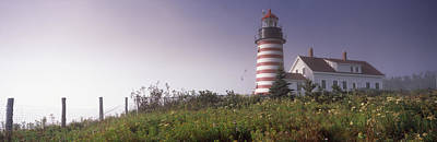 West Quoddy Head Lighthouse Photograph - Low Angle View Of A Lighthouse, West by Panoramic Images