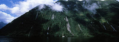 Low Angle View Of A Mountain, Milford Art Print by Panoramic Images