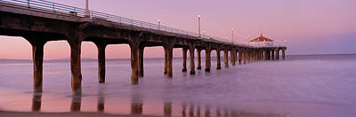 Columns Photograph - Low Angle View Of A Pier, Manhattan by Panoramic Images