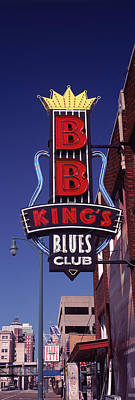 B.b.king Photograph - Low Angle View Of A Signboard by Panoramic Images