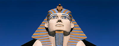 Low Angle View Of A Sphinx, Luxor Hotel Art Print by Panoramic Images