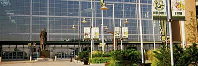 Lambeau Field Photograph - Low Angle View Of A Stadium, Lambeau by Panoramic Images
