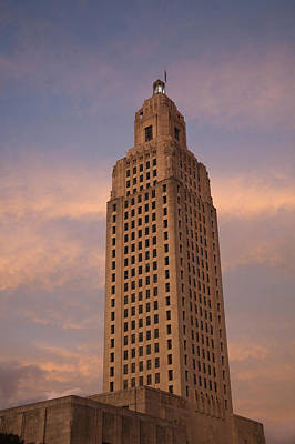 Louisiana Photograph - Low Angle View Of A State Capitol by Panoramic Images