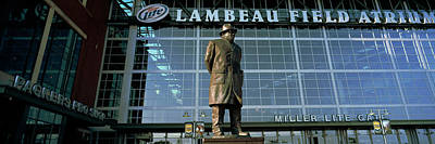 Lambeau Field Photograph - Low Angle View Of A Statue by Panoramic Images
