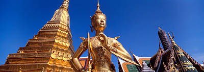 Low Angle View Of A Statue, Wat Phra Art Print by Panoramic Images