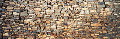 Low Angle View Of A Stone Wall, New Art Print