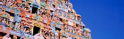 Hindu Gods Photograph - Low Angle View Of A Temple by Panoramic Images