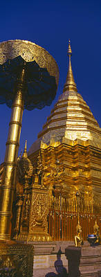 Low Angle View Of A Temple, Wat Art Print by Panoramic Images