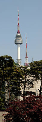 Seoul Photograph - Low Angle View Of A Tower, N Seoul by Panoramic Images