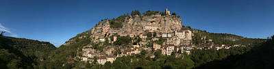 Low Angle View Of A Town On A Hill Art Print