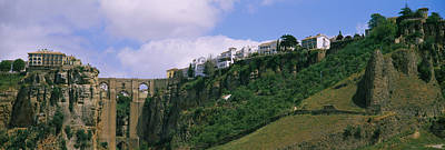 Ronda Photograph - Low Angle View Of A Town, Tajo Bridge by Panoramic Images