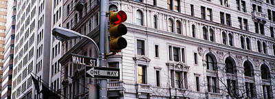 Market Street Photograph - Low Angle View Of A Traffic Light by Panoramic Images