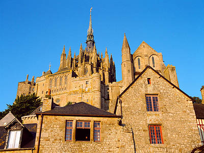 Mont Saint Michel Photograph - Low Angle View Of Buildings At Mont by Panoramic Images