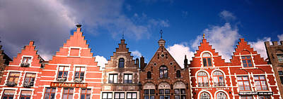 Belgium Photograph - Low Angle View Of Colorful Buildings by Panoramic Images