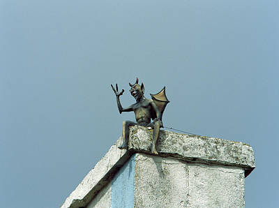 Weather Vane Photograph - Low Angle View Of Dragon Weather Vane by Panoramic Images