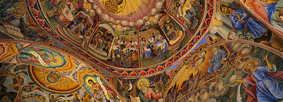 Fresco Photograph - Low Angle View Of Fresco On The Ceiling by Panoramic Images