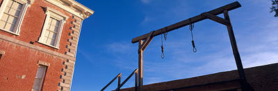 Low Angle View Of Gallows, Tombstone Art Print