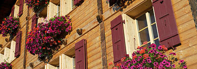 Lauterbrunnen Wall Art - Photograph - Low Angle View Of Guesthouse, Wengen by Panoramic Images