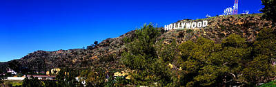 Low Angle View Of Hollywood Sign Art Print by Panoramic Images