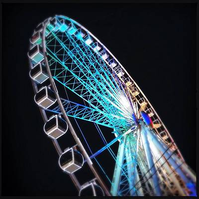 Low Angle View Of Illuminated Ferris Art Print by Kenneth Shelton / Eyeem