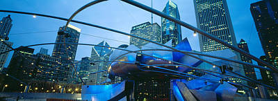 The Bean Photograph - Low Angle View Of Jay Pritzker by Panoramic Images