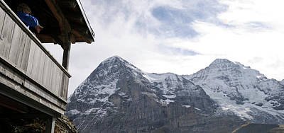 Eiger Photograph - Low Angle View Of Mt Eiger And Mt by Panoramic Images