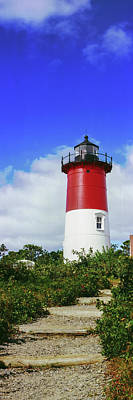 Low Angle View Of Nauset Lighthouse Art Print