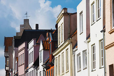 Lubeck Photograph - Low Angle View Of Old Town Buildings by Panoramic Images