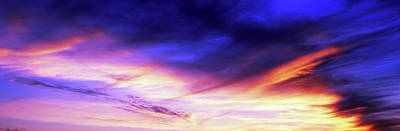 Cape Cod Photograph - Low Angle View Of Sky At Sunset, Cape by Panoramic Images