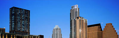 Austin Building Photograph - Low Angle View Of Skyscrapers, Austin by Panoramic Images