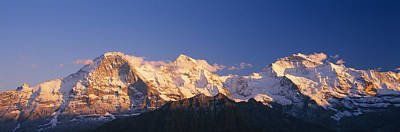 Low Angle View Of Snowcapped Mountains Art Print by Panoramic Images