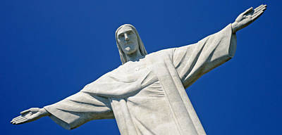 Christ The Redeemer Photograph - Low Angle View Of The Christ The by Panoramic Images