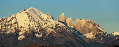 Low Angle View Of The Cordillera Paine Art Print