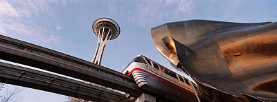 Monorail Photograph - Low Angle View Of The Monorail And by Panoramic Images