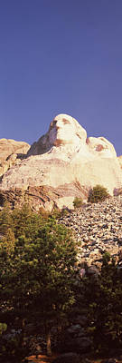 Low Angle View Of The Mt Rushmore Art Print by Panoramic Images