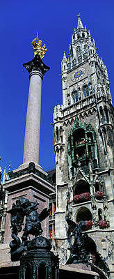 Marienplatz Photograph - Low Angle View Of The New Town Hall by Panoramic Images