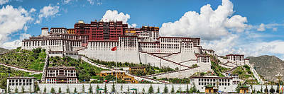 Tibetan Buddhism Photograph - Low Angle View Of The Potala Palace by Panoramic Images