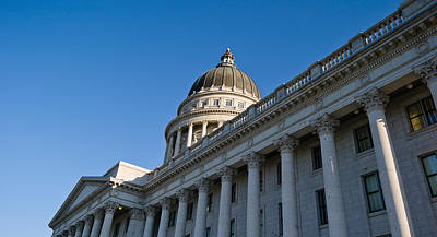 Low Angle View Of The Utah State Art Print