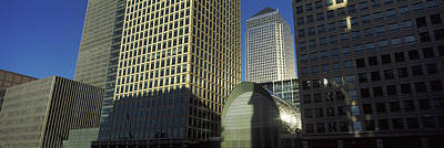 Of Dogs Photograph - Low Angle View Of Towers, Canary Wharf by Panoramic Images