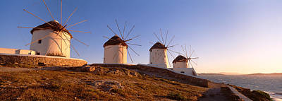 Mykonos Photograph - Low Angle View Of Traditional by Panoramic Images