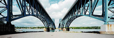 Low Angle View Of Two Bridges, North Art Print