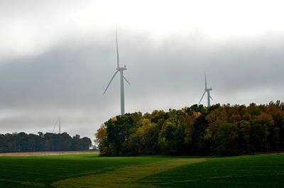 Low Ceiling For Wind-turbines Art Print by Larry Jones