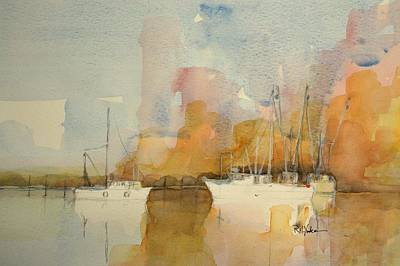 Bluffton Painting - Low Country Shrimpers by Robert Yonke