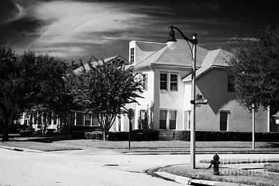 Low Density Residential Housing Real Estate In Celebration Avenue Florida Usa Art Print by Joe Fox