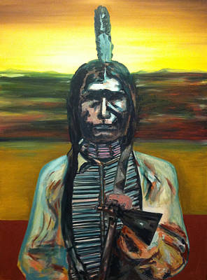 Low Dog Oglala Indian Original by Joe Ballone