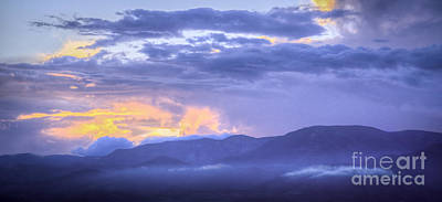 Photograph - Low Hanging Clouds At Sunset by David Waldrop