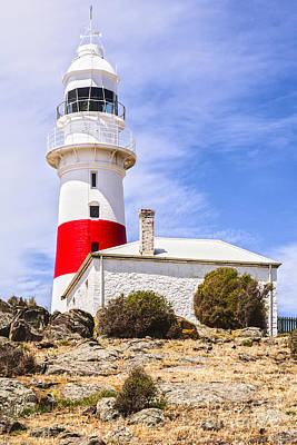 Photograph - Low Head Lighthouse Tasmania Australia by Colin and Linda McKie